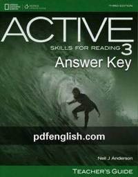پاسخ کتاب سوم Active Skills for Reading
